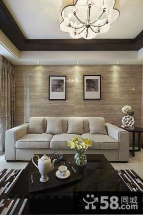 简约风格三室两厅客厅装修效果图片