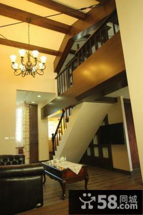 美式复古复式楼梯家装图片
