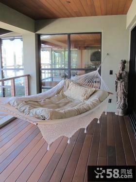 阳台吊床摆设