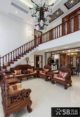 豪华中式古典别墅效果图欣赏