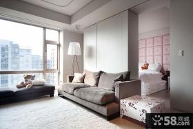 简约客厅卧室隔断墙装饰图片
