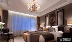 现代中式设计别墅卧室装饰效果图片