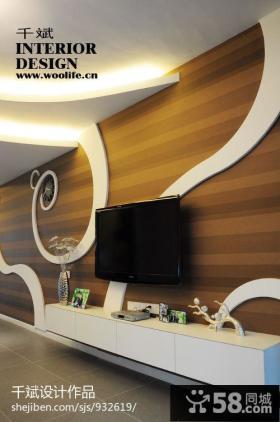 简约时尚电视背景墙的设计