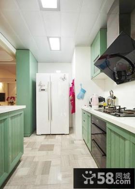 最新家居绿色整体橱柜效果图大全