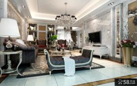 2013欧式风格客厅电视背景墙装修效果图大全