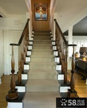美式家庭楼梯图欣赏