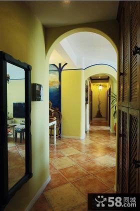 地中海风格玄关地砖装饰效果图