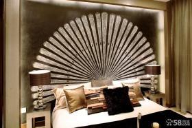 卧室床头扇形背景墙装修效果图