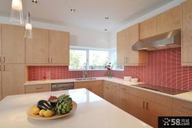 厨房样板间实木橱柜效果图
