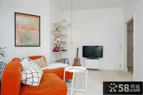 简约时尚设计客厅电视背景墙图片