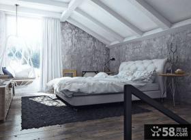 雅致简约复式室内卧室效果图