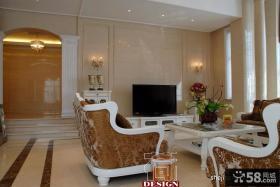 奢华欧式客厅电视背景墙效果图