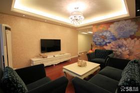 简约风格客厅电视墙装修效果图