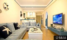 地中海风格小户型家庭装修图片