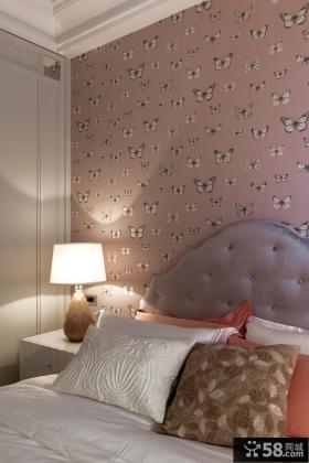 现代温馨卧室墙纸设计