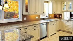 厨房橱柜大理石台面效果图欣赏