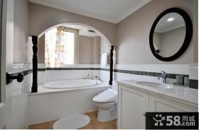 美式风格家居卫生间设计装修图片