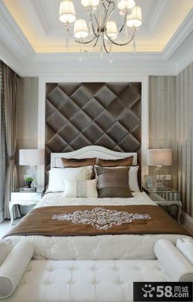 新古典风格别墅卧室室内效果图