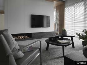 现代风格室内客厅电视背景墙效果图片