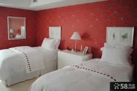 儿童卧室墙纸颜色效果图