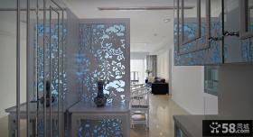 中式青花瓷玄关设计