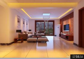 新中式客厅效果图 2013现代中式装修