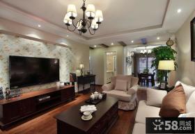 现代美式客厅电视背景墙大全欣赏