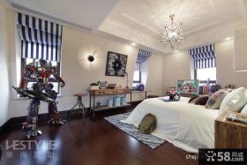 欧式风格别墅卧室家具摆放装修效果图片
