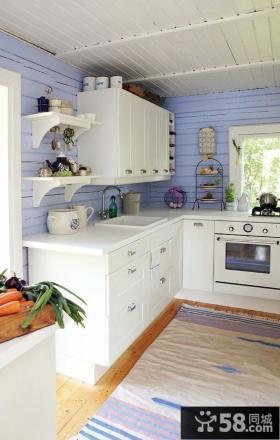 地中海风格厨房装修效果图大全2013图片