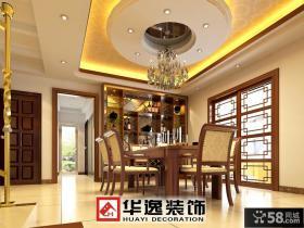 新中式餐厅吊顶图