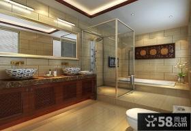优质中式风格别墅卫生间装饰效果图