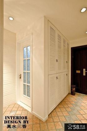 家装进门玄关入墙鞋柜装修效果图