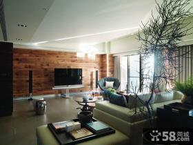 美式现代风格电视背景墙设计图片欣赏