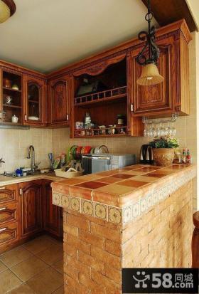 美式乡村风格厨房设计图