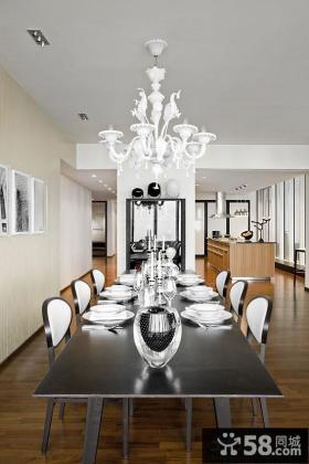 现代风格大户型餐厅灯具设计