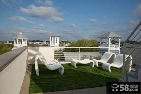 现代美式设计豪华别墅阳台装修图片