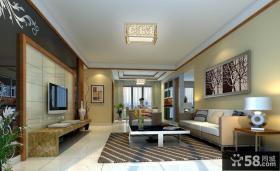 客厅装修效果图欣赏 客厅瓷砖背景墙装修效果图