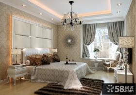 欧式主卧室飘窗装修设计