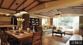 美式乡村风格私人别墅装修效果图大全
