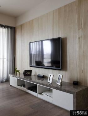 美式简约木质电视背景墙装修效果图大全