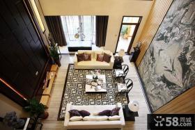 中式家居别墅挑高客厅图片大全