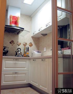 小厨房欧式实木橱柜效果图欣赏