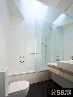 简约风格浴室玻璃隔断