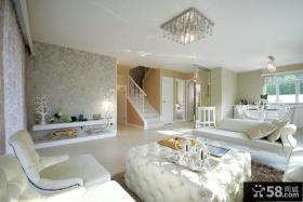 110平小三居复式客厅装修效果图