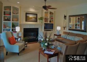 美式乡村风格装修客厅图片