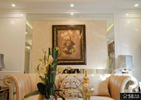 现代风格客厅墙面装饰画设计图片