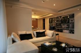 现代风格沙发背景隔断墙装修效果图