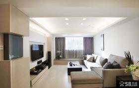 简单风格客厅电视背景墙效果图欣赏
