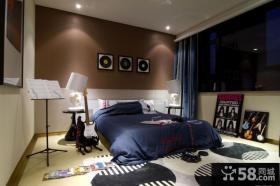 现代风格家庭卧室装修图2014