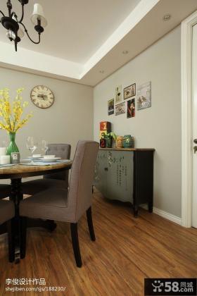 现代美式风格餐厅餐边柜子图片